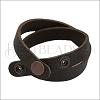 Leather DOUBLE STRAP wrap bracelet DARK CHOCOLATE