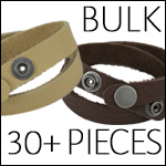 Leather DOUBLE STRAP wrap bracelet - BULK Mix and Match