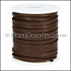 1/8 inch Deerskin Lace DARK BROWN - 50ft SPOOL