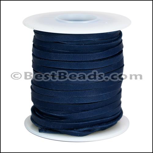 3/16 inch Deerskin Lace NAVY - per 50ft SPOOL