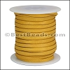 1/8 inch Deerskin Lace MUSTARD - 50ft SPOOL