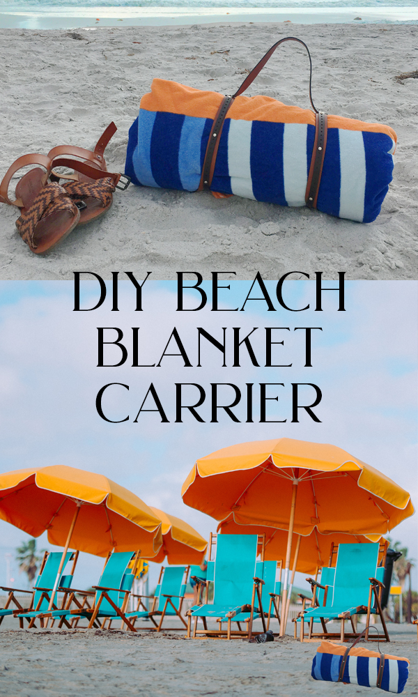 DIY Beach Blanket Leather Carrier