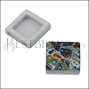 10mm Flat BRIGHT MOSAIC Slider 3 - 10 pcs