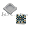 10mm Flat BLUE TILE Slider 1 - 10 pcs