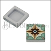 10mm Flat BLUE TILE Slider 2 - 10 pcs