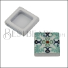 10mm Flat BLUE TILE Slider 4 - 10 pcs