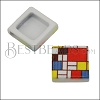 10mm Flat MONDRIAN Printed Slider - 10 pcs