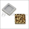 10mm Flat LEOPARD Printed Slider - 10 pcs
