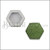 10mm Flat GREEN HEXAGON Printed Slider - 10 pcs