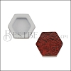 10mm Flat TERRACOTTA HEXAGON Printed Slider - 10 pcs