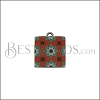 15mm RED/GREEN TILE Charm 1 - 10 pcs