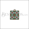 15mm RED/GREEN TILE Charm 4 - 10 pcs