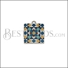 15mm BLUE TILE Charm 1 - 10 pcs