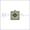15mm BLUE TILE Charm 2 - 10 pcs