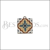 15mm BLUE TILE Charm 3 - 10 pcs