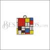 15mm MONDRIAN Printed Charm - 10 pcs