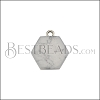 10mm WHITE MARBLE Printed Charm - 10 pcs