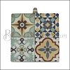 40mm BLUE MULTI TILE Printed Pendant - 2 pcs