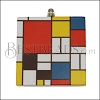 40mm MONDRIAN Printed Pendant - 2 pcs