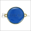 19mm Round Connector Charm GOLD EPOXY - Blue - 2 pcs
