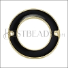 27mm Ring Connector Pendant GOLD EPOXY - Black - 2 pcs