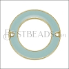 27mm Ring Connector Pendant GOLD EPOXY - Pale Jade - 2 pcs