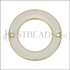 27mm Ring Connector Pendant GOLD EPOXY - White - 2 pcs