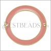 39mm Ring Connector Pendant GOLD EPOXY - Coral - 2 pcs