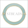 39mm Ring Connector Pendant GOLD EPOXY - Pale Jade - 2 pcs