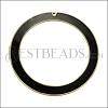 55mm Ring Pendant GOLD EPOXY - Black - per 2 pieces