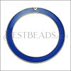55mm Ring Pendant GOLD EPOXY - Blue - per 2 pieces