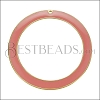 55mm Ring Pendant GOLD EPOXY - Coral - per 2 pieces