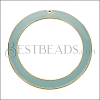 55mm Ring Pendant GOLD EPOXY - Pale Jade - per 2 pieces