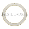 55mm Ring Pendant GOLD EPOXY - White - per 2 pieces