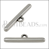 Rounded Connector Bar ANT SILVER - per 10 pieces