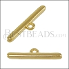 Rounded Connector Bar SHINY GOLD - per 10 pieces