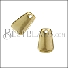 12mm Tag Charm SHINY GOLD - per 10 pieces
