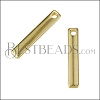 19mm Bar Charm SHINY GOLD - per 10 pieces