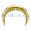 28mm Hanging Crescent Connector Pendant SHINY GOLD - 10 pcs