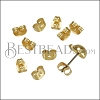 Butterfly Earring Back SHINY GOLD - per 10 pieces