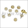 Silicone Ear Back Earring Back BRASS - per 10 pieces