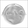 28mm Hammered Pendant Pendant ANT SILVER - per 10 pieces