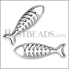 Fish Pendant ANT SILVER - per 10 pieces