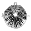 Sea Urchin Pendant ANT SILVER - per 10 pieces