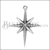 Compass Star Pendant ANT SILVER - per 10 pieces