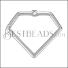 Wire Diamond Pendant ANT SILVER - per 10 pieces