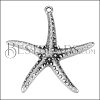 Starfish Pendant ANT SILVER - per 10 pieces