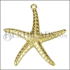 Starfish Pendant SHINY GOLD - per 10 pieces