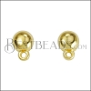 Sphere Post Earring with Loop SHINY GOLD - per 10 pieces