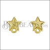 Star Post Earring with Loop SHINY GOLD - per 10 pieces